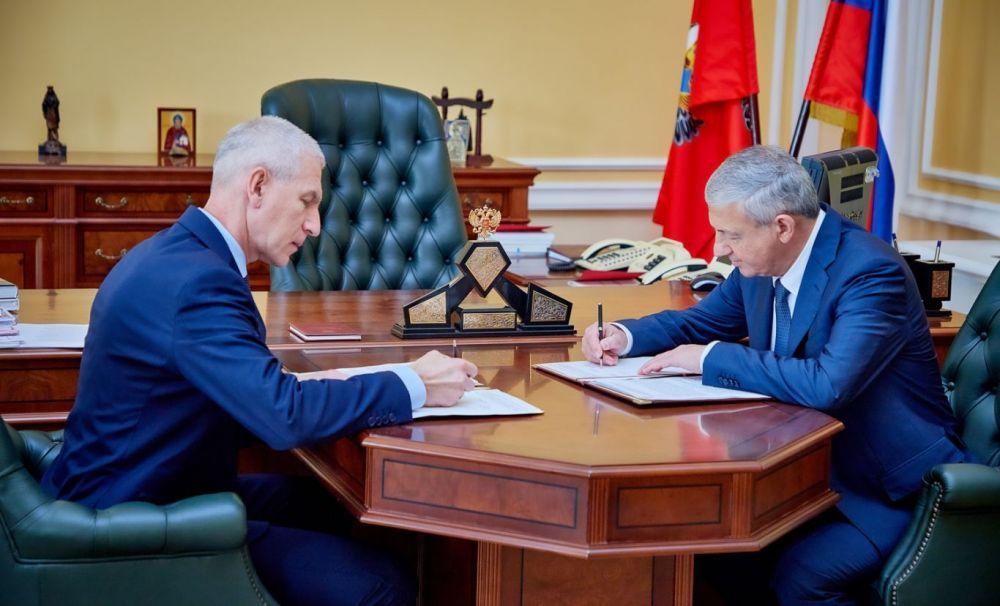 Битаров обсудил с министром спорта России строительство в Осетии дворца спорта и современного гимнастического центра