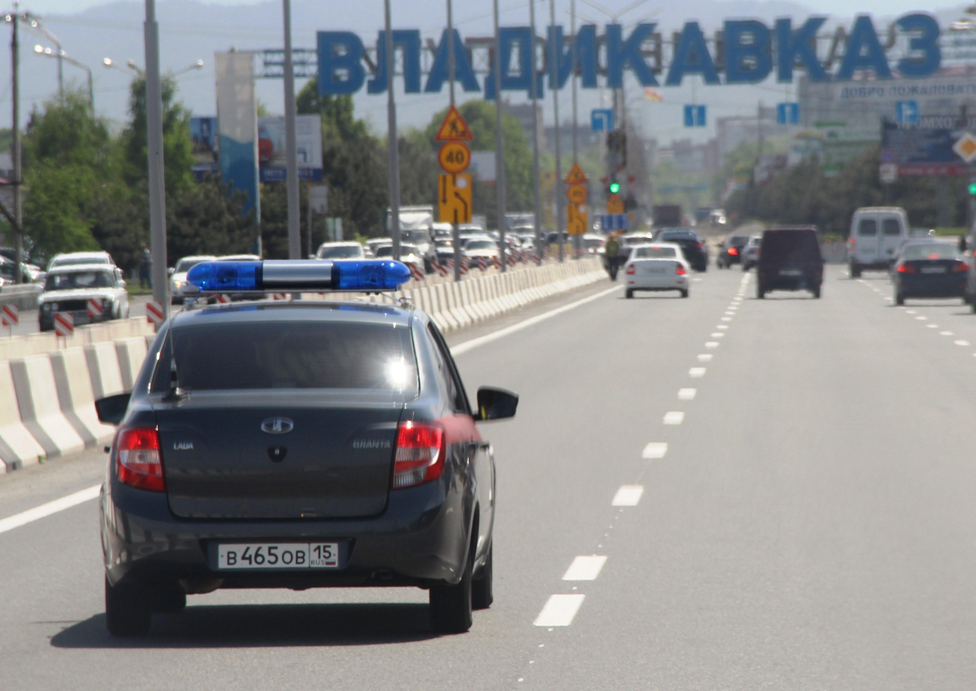 Во Владикавказе росгвардейцы задержали мужчину, сломавшего рекламную конструкцию