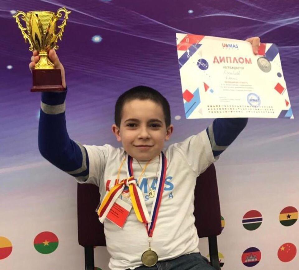 Юный представитель Южной Осетии стал призёром турнира по ментальной арифметике в Москве