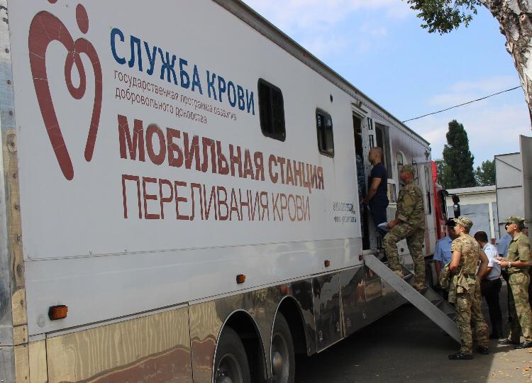 Около 40 сотрудников Росгвардии Северной Осетии приняли участие в донорской акции